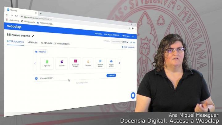 Cómo acceder a Wooclap.com autenticándonos con @um.es. Ver todos mis eventos.