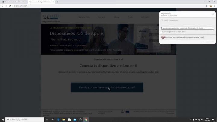 Conexión wifi (eduroam) desde dispositivos Windows