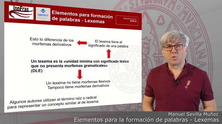 03-Elementos para la formación de palabras-Lexemas