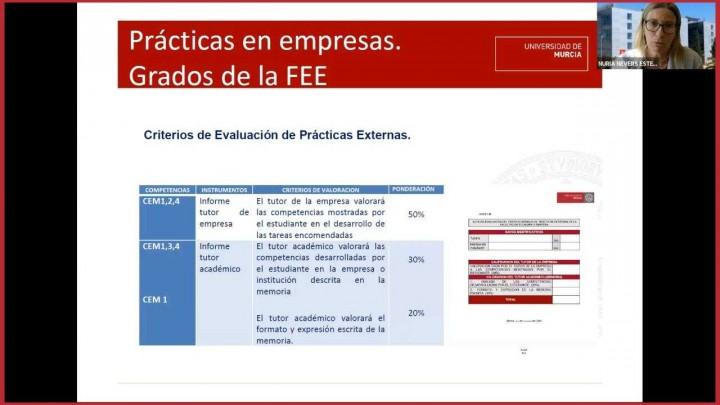 Presentación programa prácticas externas y prácticas Erasmus