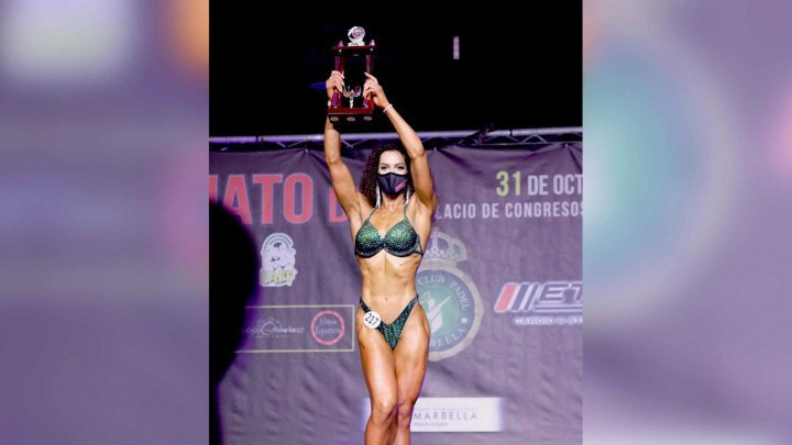 Una doctorada de la UMU, ganadora en el concurso 'Biquini fitness'