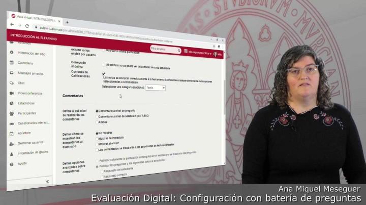 Configuración de un examen de batería de preguntas de forma libre y con cláusula de veracidad