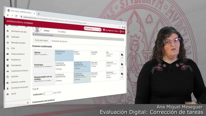 Cómo corregir un examen en la herramienta Tareas con Rúbricas del Aula Virtual