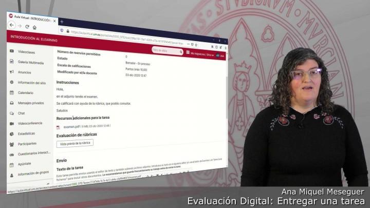 Entregar un examen realizado con Rúbricas por medio de la herramienta Tareas del Aula Virtual
