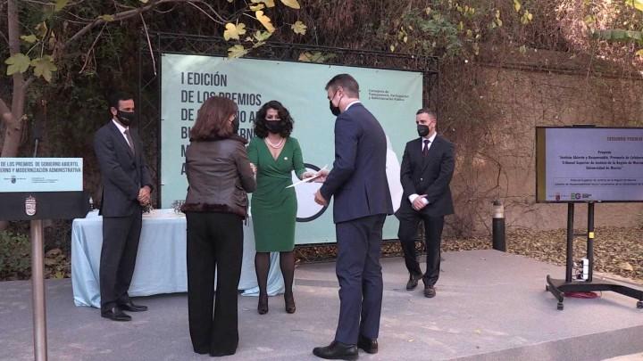 La UMU es galardonada en los premios de gobierno abierto y modernización administrativa
