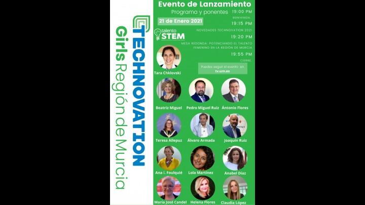 Lanzamiento de Technovation Girls en la Región de Murcia 2021