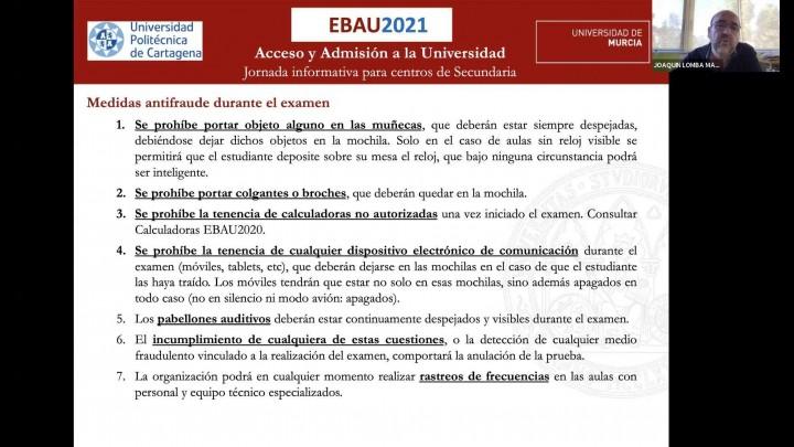 Jornada informativa EBAU2021 para centros