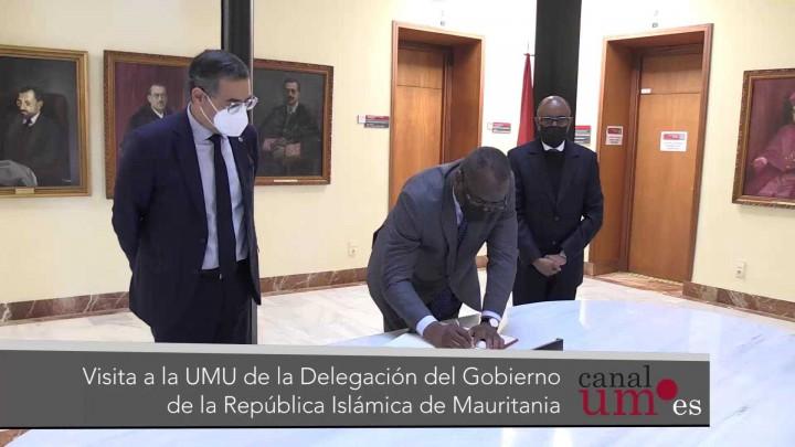 El ministro de Enseñanza Superior e Investigación de Mauritania visita la Universidad de Murcia