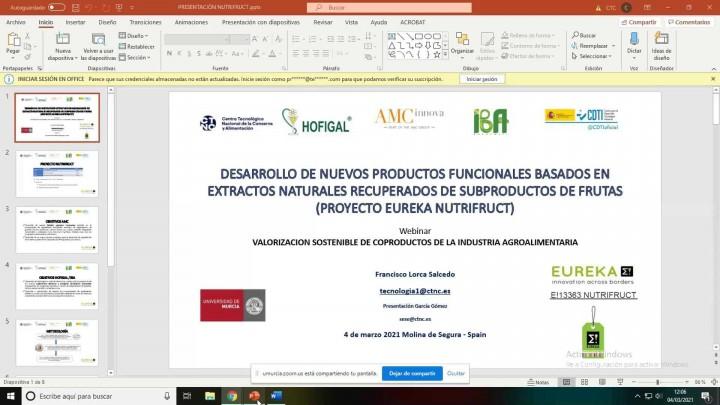 'Valorización sostenible de co-productos en la industria agroalimentaria'