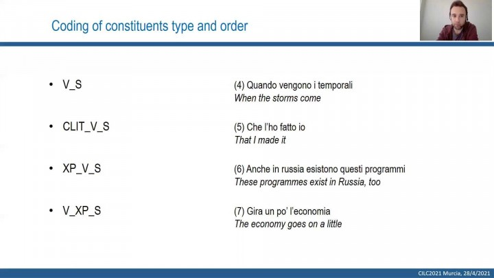 The acquisition of VS structures in L2 Italian in a developmental perspective: a corpus-based study