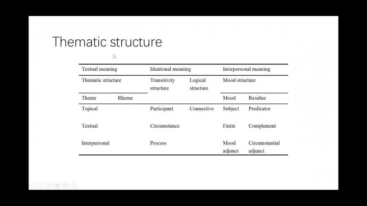 On the features of translational language: the thematic approach