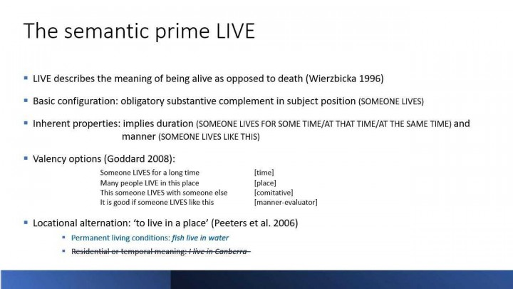 Identifying Old English Semantic Primes: the case of LIVE