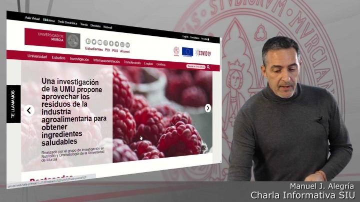 Charla informativa SIU - 01 - Presentación de la web de la Universidad de Murcia