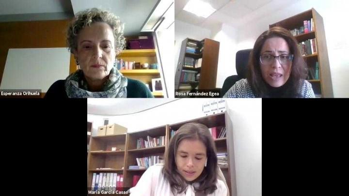 2. Entrevista Rosa Fernández Egea y María García Casas por Esperanza Orihuela