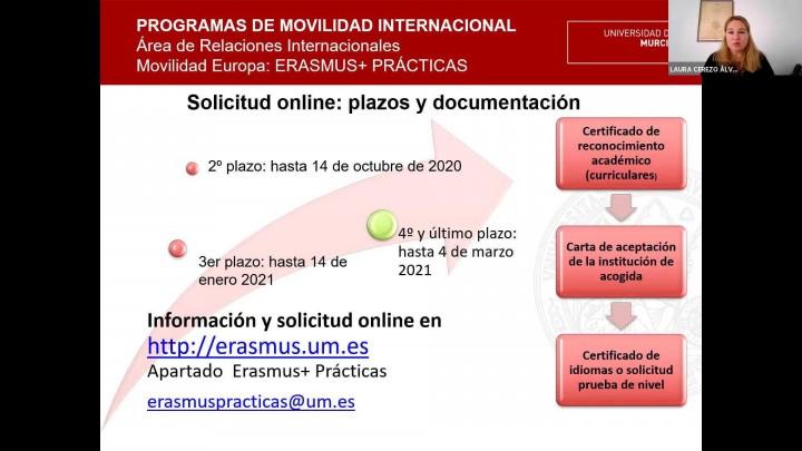 Jornadas Informativas de Movilidad Internacional #JIMI2020 - Erasmus+ Prácticas 2020-21