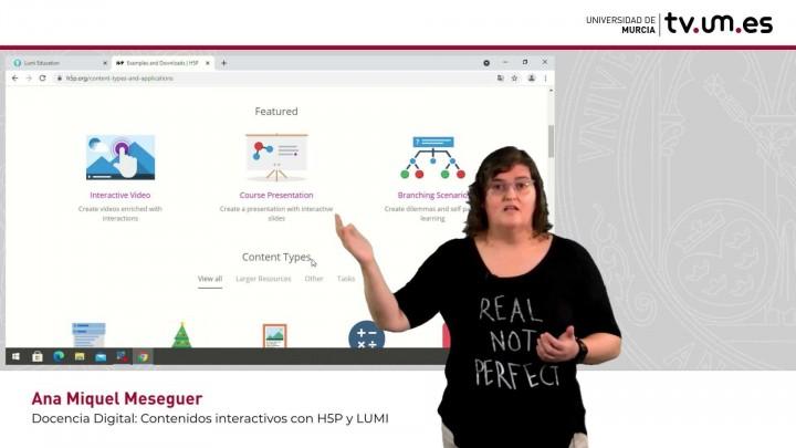 Presentación de la herramienta para crear Contenidos Interactivos H5P y LUMI