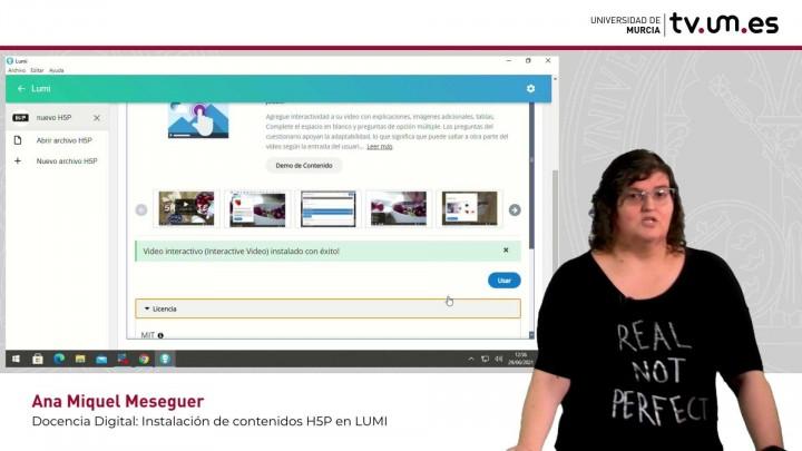 Cómo instalar y usar plantillas de contenidos H5P en LUMI. Video o presentación interactiva.