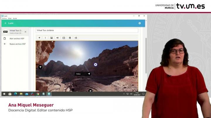 Cómo editar contenido interactivo H5P ya creado. Descargar Visita virtual 360º. Exportar HTML.