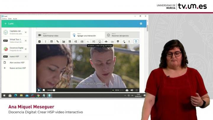 Cómo crear un vídeo interactivo H5P con contenido interactivo como completar palabras en blanco