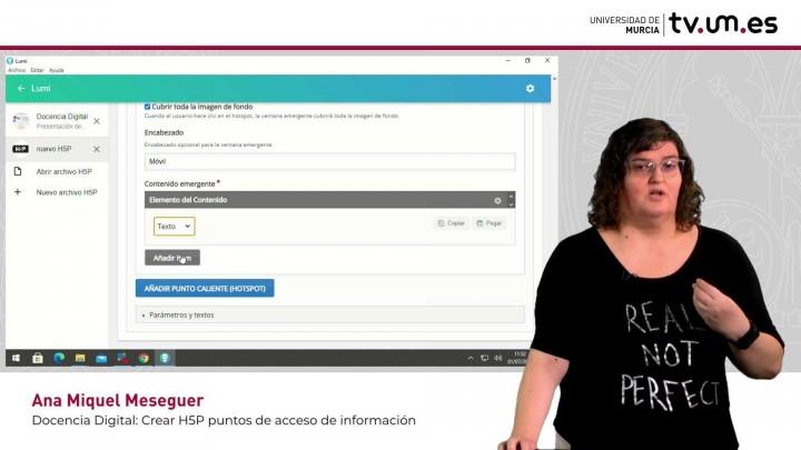 Cómo crear contenido interactivo H5P: Imagen con puntos de información