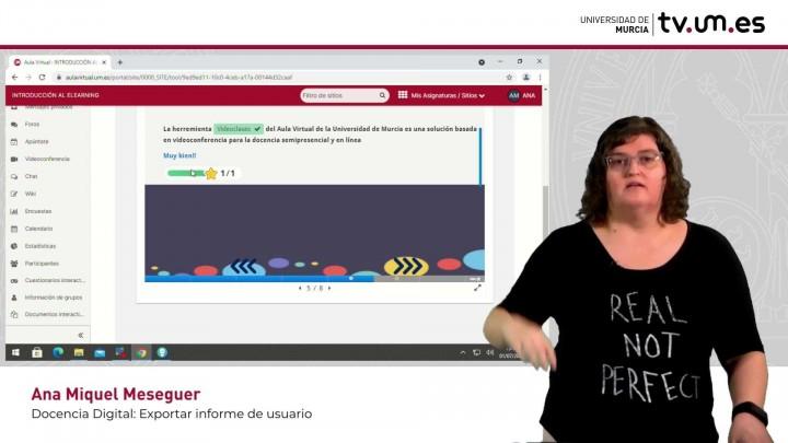 Cómo realizar una actividad interactiva y exportar el informe de uso .lumi como estudiante