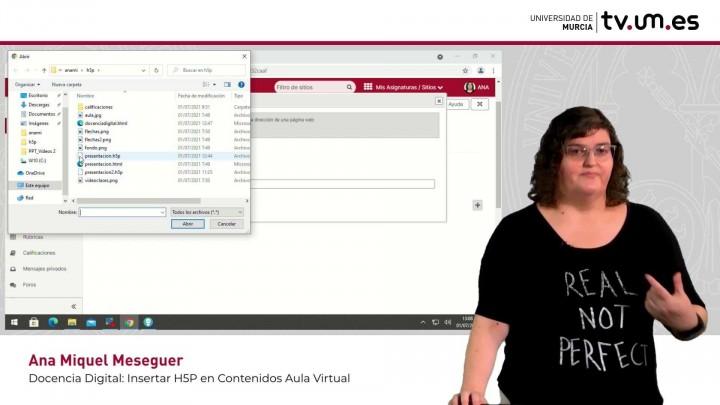 Cómo insertar contenidos interactivos H5P con opción reportero en Contenidos del Aula Virtual.