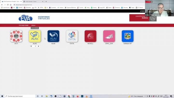 Escritorio virtual EVA: instalación del plug in