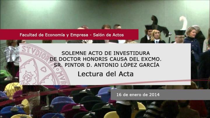 Lectura Acta del Claustro Universitario