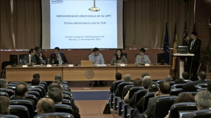 Administración electrónica en la UPF: Firma electrónica con la TUI
