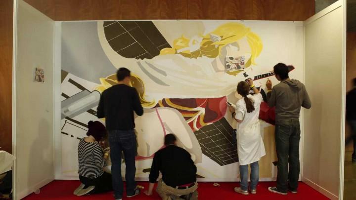 Realización Mural IV Salón del Manga