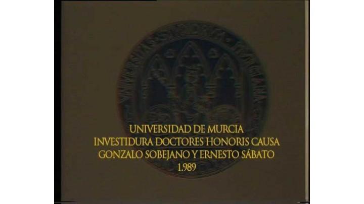 Doctor Honoris Causa Sobejano y Sabato 1989