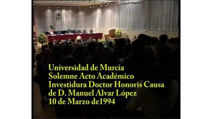 Doctor Honoris Causa Manuel Alvar 1994