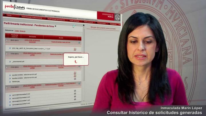 Consultar histórico de solicitudes generadas