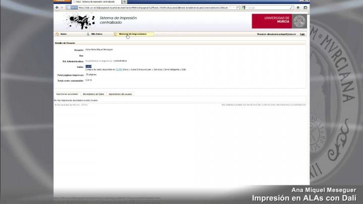 Consulta de impresiones en http://dali.um.es