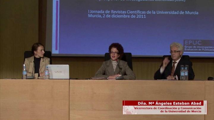 I Jornada de Revistas Científicas de la Universidad de Murcia