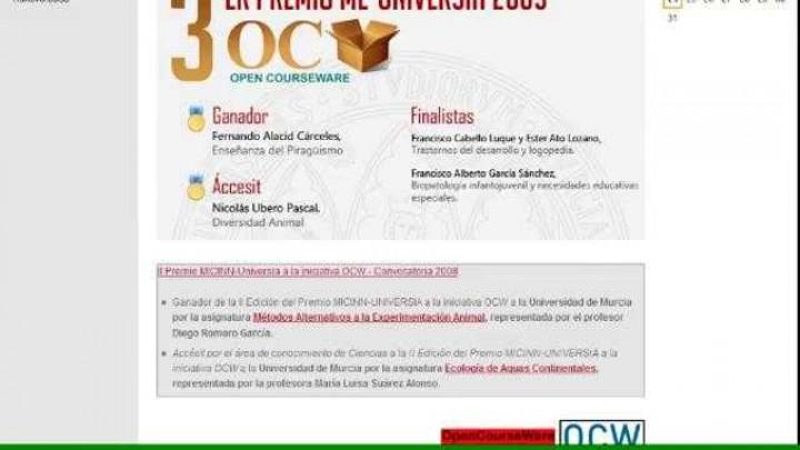 Portal OCW de la Universidad de Murcia