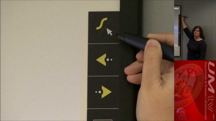 Uso de las herramientas básicas de la PDI desde la tira de iconos magnética