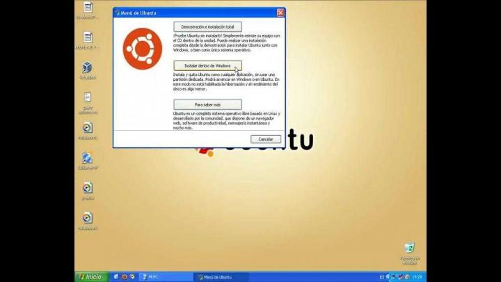 Instalación de Ubuntu (Sobre un equipo con windows, mediante Wubi)