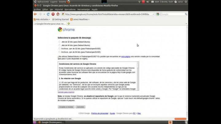 Navegador Web. Google Chrome